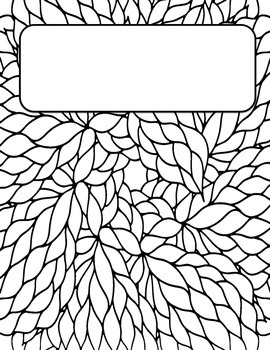 coloring book front cover coloring pages | Coloring Binder Covers by Bobbi Bates | Teachers Pay Teachers