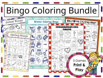 Coloring Bingo Games Bundle