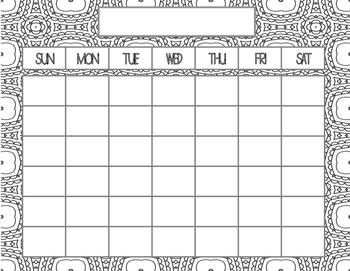 Coloring Blank Calendars