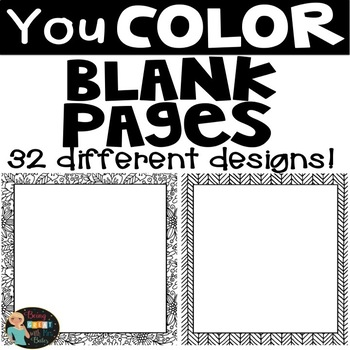 Coloring Blank Pages