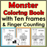 Coloring Book 0-20 Distance Learning Printable - Ten Frame