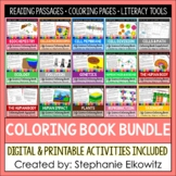 Life Science Biology Coloring and Reading Passages Bundle | Printable & Digital