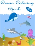 Coloring Book-Ocean Themed