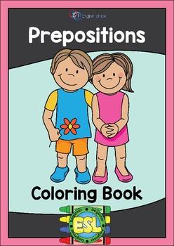 Coloring Book – Prepositions