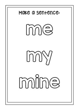 Coloring Book – Pronouns