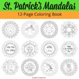 St Patricks Day Mandala Coloring Book