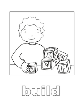 Coloring Book for Action Words