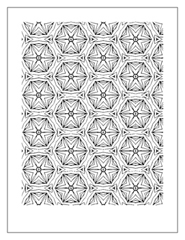 Coloring Book for All Ages Patterns Tessellations