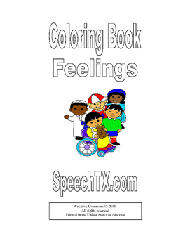 Coloring Book for Feeling Words