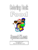 Coloring Book for Food Words