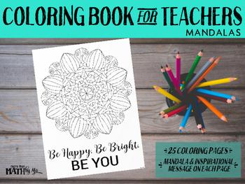 Coloring Book for Teachers: Mandalas