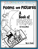 Coloring Book of 70+ Original Illustrated Poems- BW Lineart Version