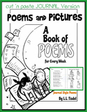 Book of 70+ Original Illustrated Poems- JOURNAL Lineart Version