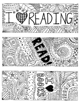 Coloring-Book Inspired Reading Bookmarks!