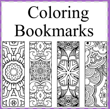 Coloring Bookmarks-Color your Own Bookmarks by Debbie Madson | TpT