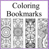 50 Coloring Bookmarks-Color your Own Bookmarks