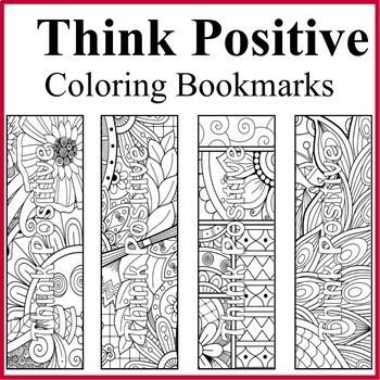 Coloring Bookmarks Bundle Set - 4 Color your Own Bookmarks Sets