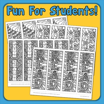 Coloring Bookmarks - Free!