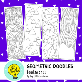 Coloring Bookmarks - Geometric Doodles
