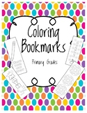 Coloring Bookmarks Primary Grades