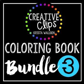 Coloring Books: Bundle 3 {Made by Creative Clips Clipart}