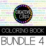 Coloring Books: Bundle 4 {Made by Creative Clips Clipart}