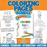 Coloring Bundle - Kindness, Friendship, Affirmations, Gratitude, Growth Mindset