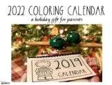 Coloring Calendar {Freebie}