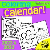 Coloring Calendar to Color Parent Christmas Gifts for Parent 2021 Printable D2