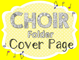 Coloring Choir Folder Cover Page