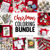 Christmas Coloring Bundle   100+ pages of printable Christmas activities