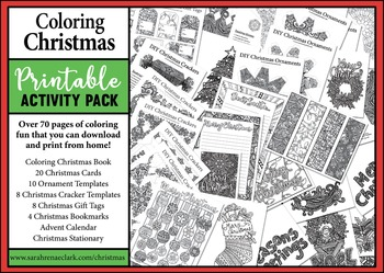 Coloring Christmas: Printable Activity Pack for All Ages