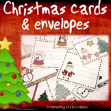 32 coloring CHRISTMAS cards + 8 matching envelopes - CUT COLOR and GLUE