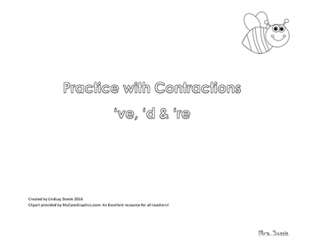 Coloring Contractions 're, 'd, and 've
