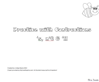 Coloring Contractions 's, n't and 'll