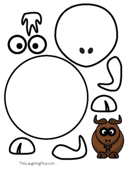 Coloring & Cutouts - Gnu