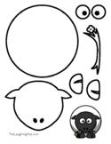Coloring & Cutouts - Sheep