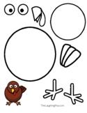 Coloring & Cutouts - Turkey