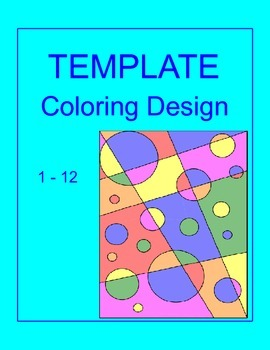 Coloring Activity TEMPLATE  for ANY Subject - (1 - 12 background) #2