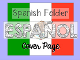 Coloring Spanish Folder Cover Page
