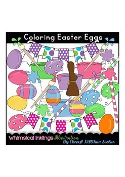 Coloring Easter Eggs Clipart Collection