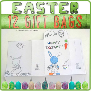 Coloring Easter boxes - ✀ Cut, color and glue ! - Craftivity