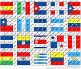 Verb Conjugation Coloring & Spanish Speaking Country Flags