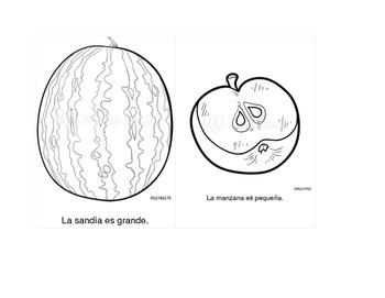 Coloring Flashcards, Grande/Pequeño, Practice the A Sound