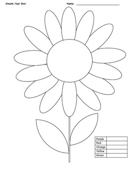 Coloring-Flower (4 pages) 7th Grade Math Common Core Integers-All Operations