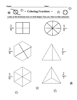 Coloring Fractions for Younger Students