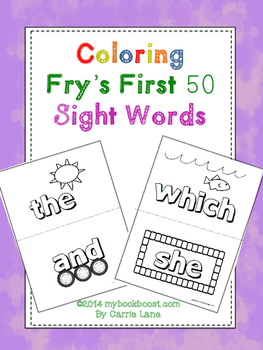 Coloring Sight Words
