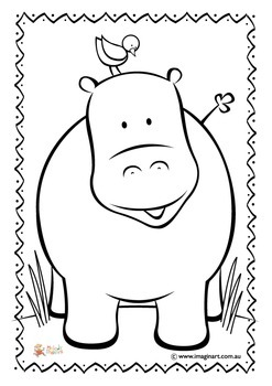 Coloring In Hippo