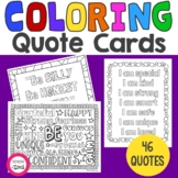 Inspirational Mindfulness Coloring Quote Cards