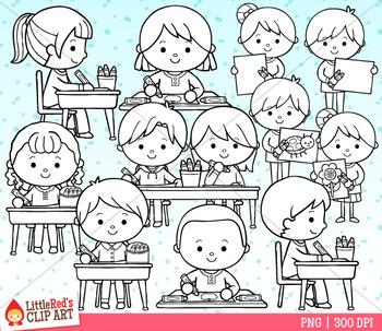 Coloring Kids Clip Art